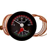 Ø50  Mano-termometre SIVI DOLGULU SICAKLIK ÖLÇER