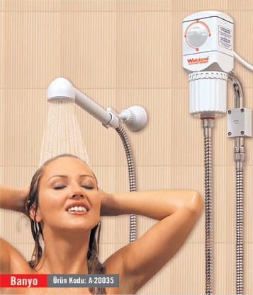 ani ısıtıcılı banyo şofbeni
