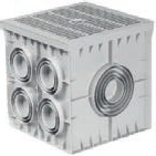 MENHOL  55x55x50  PVC ROGAR 10 ÇIKIŞLI