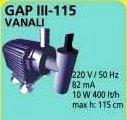 GAP III - 115 VANALI HAVUZ POMPASI