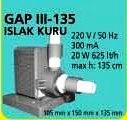 GAP III - 135  ISLAK KURU HAVUZ POMPASI