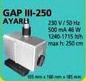 GAP III - 250  AYARLI TİP HAVUZ POMPASI