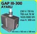 GAP III - 300 AYARLI HAVUZ POMPASI