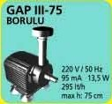 GAP III - BORULU HAVUZ POMPASI